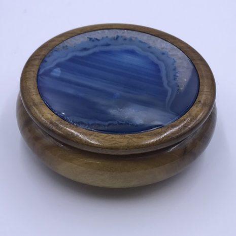 Agate Wooden jewelry Keepsake box
