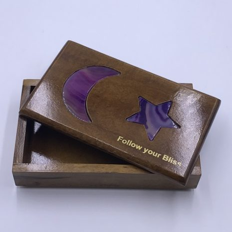 Box with Purple Agate Agate Box Jewlery Crystals or keepsakes