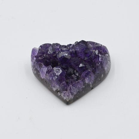 Amethyst Cluster Heart