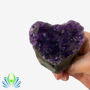 Amethyst Uruguay Heart