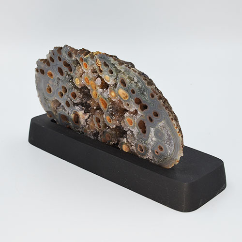 Agate Geode on Wooden Stand