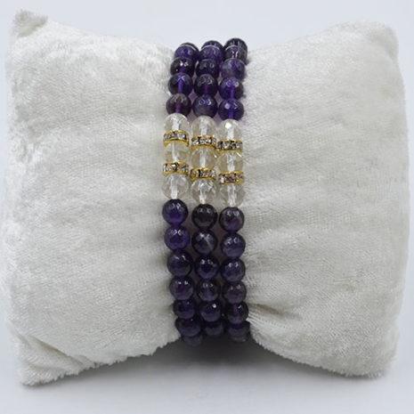 Amethyst bracelet Three Fold Bracelet Amethyst