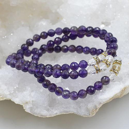 Three Fold Bracelet Amethyst