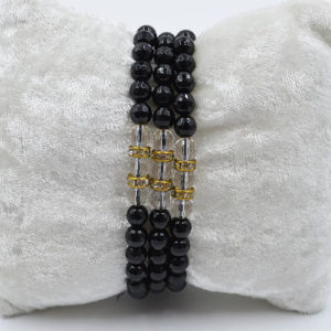 Three Fold Bracelet Black Obsidian Three Fold Bracelet