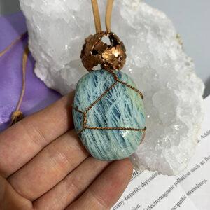 Aquamarine Tensor Necklace