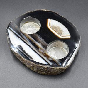 Natural Quartz Tealight Holder Agate