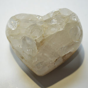 Clear Quartz Cluster Heart
