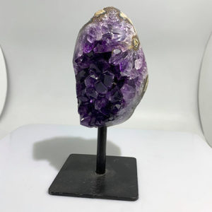 Amethyst cluster on Metal Stand