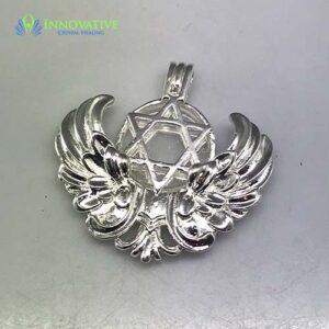 Clear Quartz Angel Wing Pendant