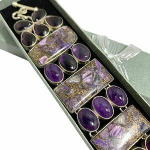 Charoite & Amethyst Bracelet