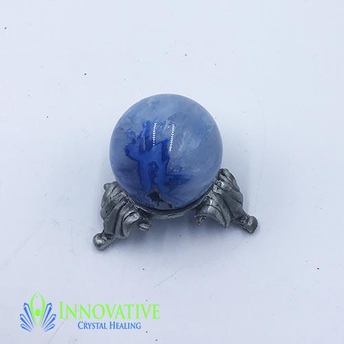 Agate Geode Sphere Blue