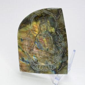 Labradorite Carved Quan Yin