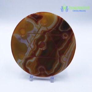 Carnelian Star of David Grid Plate