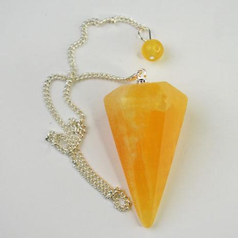 Orange Calcite Pendulum