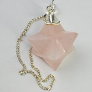 Rose Quartz Merkabah Pendulum