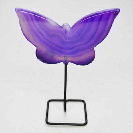 Agate Butterfly Purple