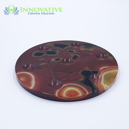 Carnelian Star of David Grid Plate