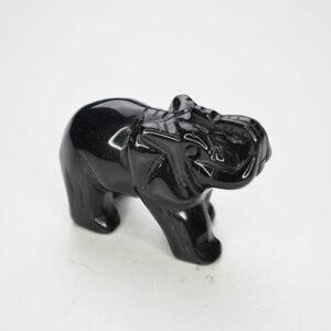 Elephant Black Obsidian