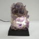 Amethyst Cluster Lamp