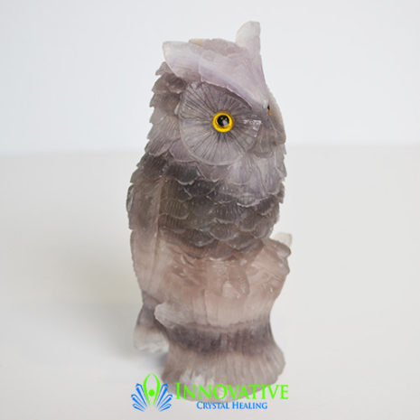 fluorite carved owl