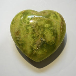 Green Opal Heart