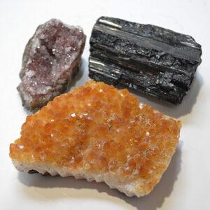 Black Tourmaline, Amethyst & Citrine Bundle