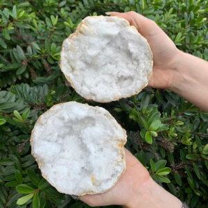 Quartz Geodes Pair