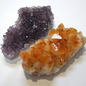 Amethyst & Citrine Clusters