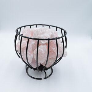 Basket Lamp Rose Quartz