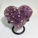 Amethyst Geode Heart With Calcite