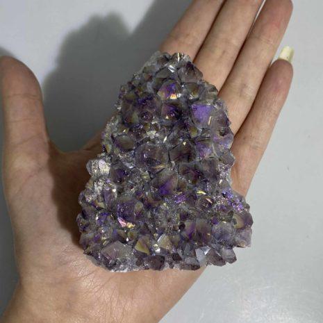 Amethyst Aura Cluster 2 3
