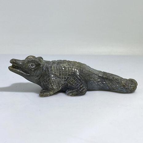 Labradorite Carved Crocodile