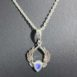 Moonstone Sterling Silver Pendant with Angel Wings
