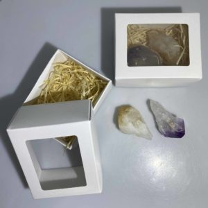 Citrine and Amethyst Rough Point Box