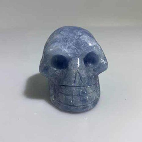 blue calcite skull 11