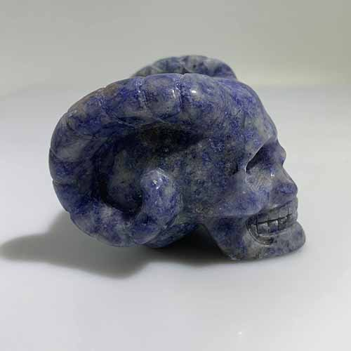 sodalite carved skull