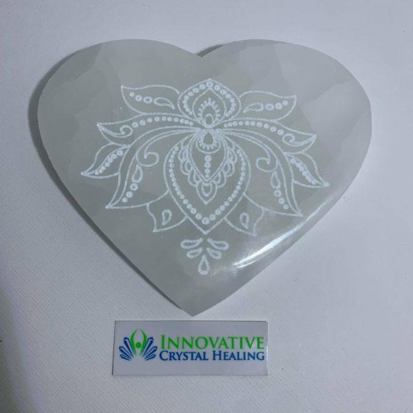 Lotus Flower Selenite Charging Plate