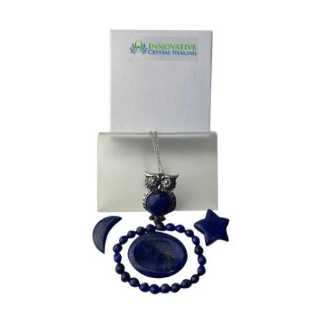 Lapis Lazuli Gift Set Owl Pendant