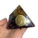 Orgonite amethyst flower of life pyramid pyramid