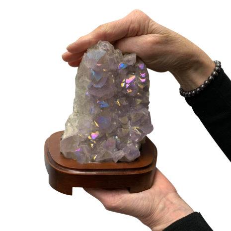 Amethyst Aura Cluster Lamp