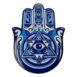 Star of David and Evil Eye hand Coaster