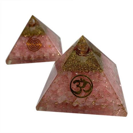 rose quartz organite om 11