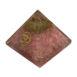 rose quartz organite om