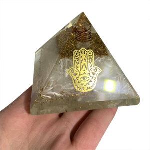 Selenite Orgonite Pyramid