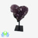 amethyst heart on stand 1