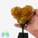 Citrine Cluster Heart