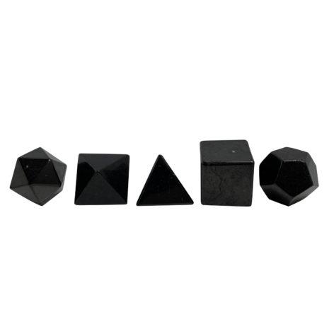 shungite geometric set med 2