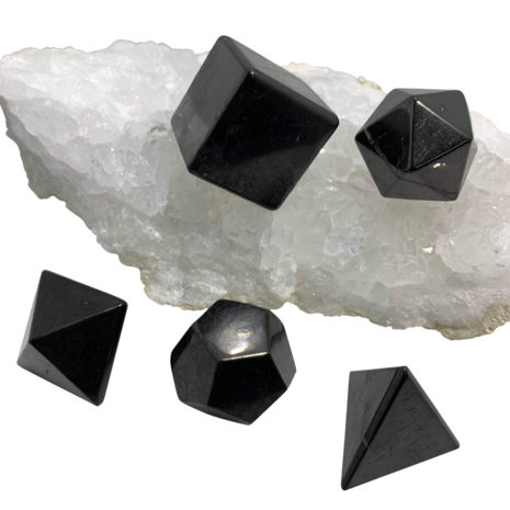 shungite geometric set med 2222