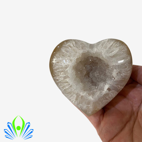 Natural Agate Geode Heart