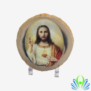 Agate Slice Jesus